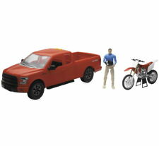 NIB New-Ray Ford F-150 Truck with Honda CRF450 1:14 lights & sounds model
