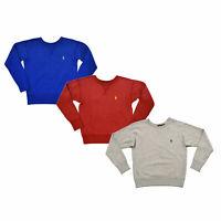 Ralph Lauren Womens Pullover Sweatshirt Crew Neck Pony Logo Xs S M L New Prl Nwt