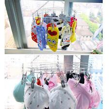 Stainless Steel Underwear Sock Hanger Laundry Airer Dryer drying Rack 20 Clips