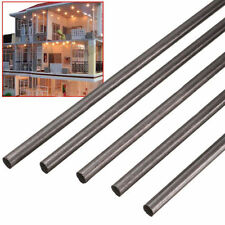 5pcs/set Carbon Fiber Rods For Sand-Table RC Airplane DIY Black 500x4mm New