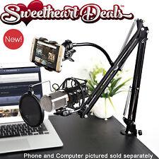 Video Blog Vlogging Kit Pro Recording Mic Scissor Desk Stand Phone Mount & Cable