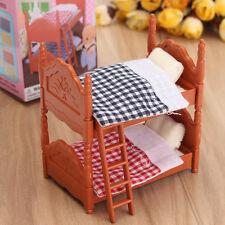 1:12 Accesorios Para Handcraft Miniaturas Doble Cama Mueble De Casa De Muñeca