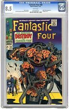 Fantastic Four #68 CGC 8.5 VF+  wht pgs Thing as a Monster Storyline Mad Thinker