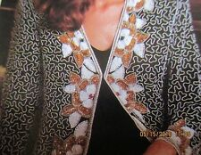 JAKELINE DESIGNS*NEW W/TAGS*SURPRISING RICHES SEQUIN JACKET*LARGE(12-14)*