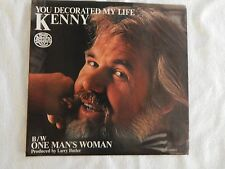 """KENNY ROGERS """"You Decorated My Life"""" PICTURE SLEEVE ONLY! ONLY NEW COPY ON eBAY!"""