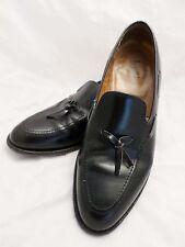 LOAKE made England black leather tassel dress shoe banker loafers 11
