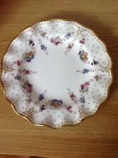 ROYAL CROWN DERBY 'Royal Antoinette' Fluted Dinner Plate, Exquisite, c2000