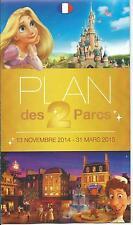 plan des parcs Euro Disney Disneyland 13 novembre 2014 - 31 mars 2015 TTB
