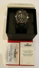 Tissot PRS516 Rose Gold Plated Chronograph Dial & Strap Watch T100.417.36.051.00