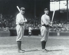 babe ruth yankees and ty cobb tigers 8x10 photo