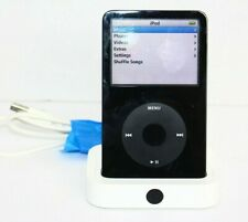 Apple iPod Classic 5th Generation 30GB MP3 Player Black A1136 With Charging Dock