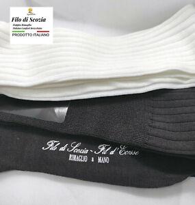 6 paia di calze FILO DI SCOZIA  uomo lunghe calzini cotone MADE ITALIA