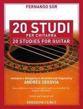 Fernando Sor 20 Studi per Chitarra revisione di Andrès Segovia Edizioni Curci
