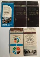 5 Matchbook Match Covers Boxes From Tasmanian Hotels Motels