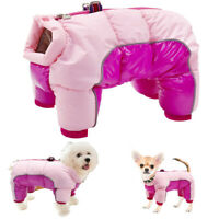 Reflective Dog Coat Winter Warm Jacket Jumpsuit Waterproof Chihuahua Clothes Pug