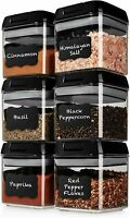 Airtight 6 Mini Container Set + 6 Spoons Plastic Food Storage Containers $39 Ret