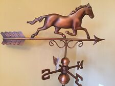 Good Directions Bronze Patina Galloping Horse Weathervane -1974Brn w/Roof Mount