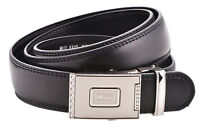 Mens Leather Lined Quick Release Ratchet Belt in Black - Milano