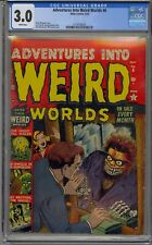 ADVENTURES INTO WEIRD WORLDS #6 CGC 3.0 PRE HERO ATLAS HORROR WHITE PAGES