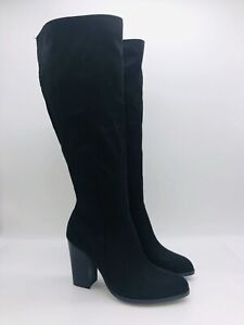Journee Collection Women's Kyllie Wide Calf Knee High Boots Black - choose size