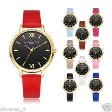 Mujer Retro Cuero Cuarzo Análoga Wrist Watch Aleación Acero inoxidable Reloj