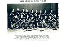 1943 1944 NEW YORK RANGERS 8X10 TEAM  PHOTO  HOCKEY NHL USA HOF