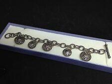 925 Sterling Silver Marcasite Rondel Bracelet - Seller ref 204