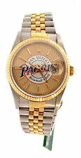1998 ROLEX DATE JUST 18K YELLOW GOLD STAINLESS STEEL PADRES COLLECTOR WATCH