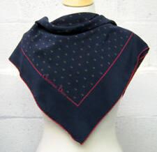 Original 1970s Vintage Navy Christian Dior Silk Scarf Vintage Scarves, Designer
