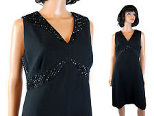 Little Black Dress Sz 10 M Liz Claiborne Black Open Back Beaded Cocktail Gown
