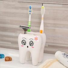 Bathroom Cute 4 Holes Tooth Style Toothbrush Holder Bracket Stand Hotsell Z
