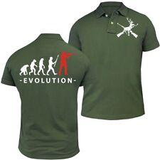 POLO Shirt Evolution Jäger Förster Waidmanns Heil Halali Revier Treibjagd Hunter