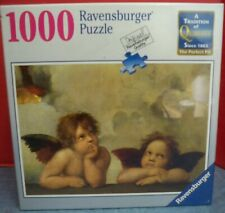 "NIB Sealed Ravensburger 1000 Pc Puzzle Raffaello Cherubs 27"" x 20"" Made Germany"