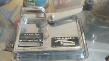 VINTAGE TOBACCO PAPER TOP-O-MATIC METAL CIGARETTE ROLLING MACHINE