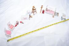 Dollhouse Miniature 1:12,1� Nursery Furniture Set with Working Crib & High Chair