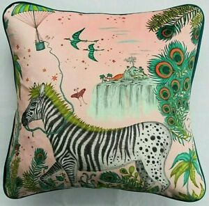 Emma J Shipley LOST WORLD PINK VELVET Cushion Cover 41cm