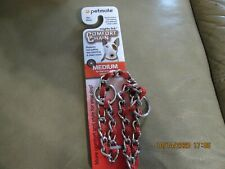 Petmate Comfort Chain Dog Collar & Woven Nylon Brown 16 IN. up to 44 lbs