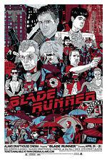 BLADE RUNNER MONDO POSTER TYLER STOUT RIDLEY SCOTT HARRISON FORD RUTGER HAUER