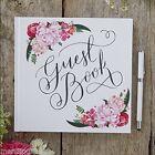 Ginger Ray Floral & White Wedding Christening Guest Book Vintage Boho Range