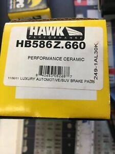 Hawk Performance Ceramic Street Brake Pads HB586Z.660 front HSV DB1937 clearance