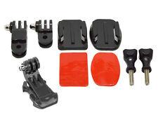 Planos y curvados Casco Frontal / Side Kit De Montaje Con Gancho J Para Gopro 4 3 + 3 2 1