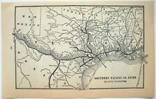 Original 1899 Map of the Southern Pacific Railroad - Atlantic Properties