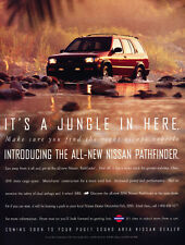 1996 Nissan Pathfinder- jungle - Classic Car Advertisement Print Ad J72