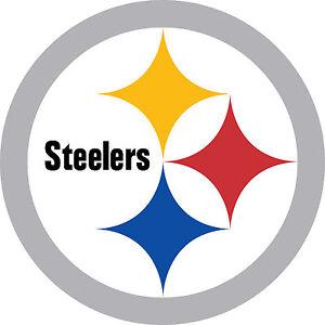 "Pittsburgh Steelers Football Car Truck (2) 12"" x 12""  Sticker Decal Pa Corn Hole"