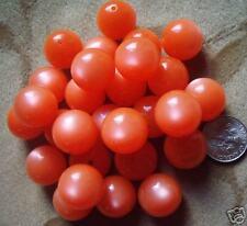 40 Lucite/acrylic/plastic beads, orange  MOONGLOW,14mm