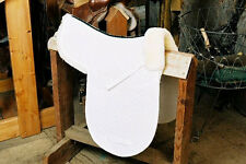 All Purpose Numnah Saddle Pad with Pommel Roll - White