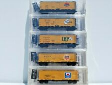 Meat Packers #2 -5 Pack Micro Trains/NSC N Scale 40' Steel Side Ice Reefers. New