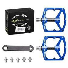 RockBros Bicycle Road Mountain Bike Pedals Carbon Fiber Sealed Bearings Blue