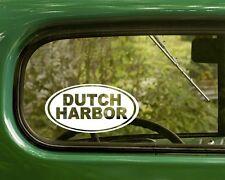 Dutch Harbor Alaska Decal Sticker, 2 Oval for Travel Mug, Car, Laptop