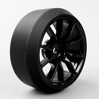 4Pcs 1:10 RC Drift Car Tires and 12mm Hex Wheels C12NK For HPI HSP on Road Car